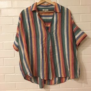 Madewell Short Sleeve Blouse Size L